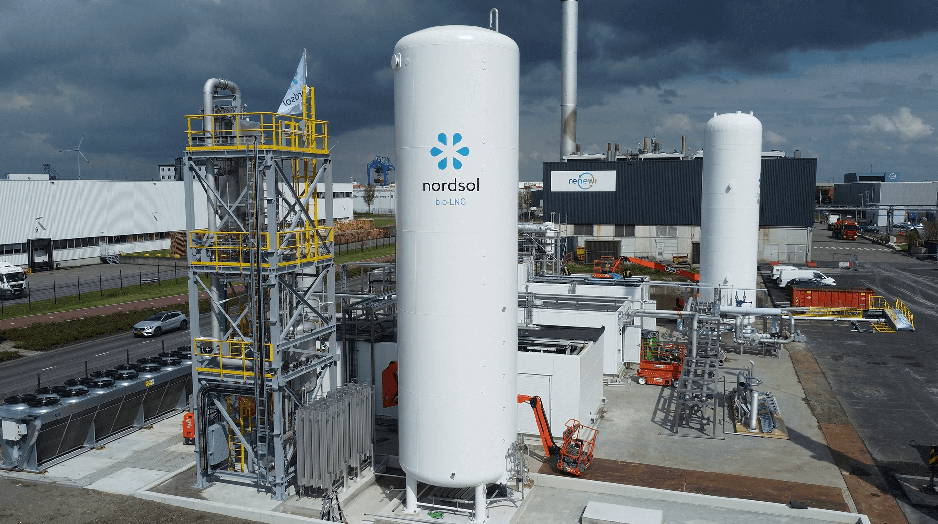 Nordsol bio-LNG in Amsterdam - under construction